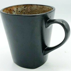 Better Homes & Gardens Black and Tan Square Mug
